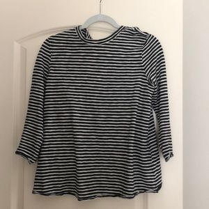 Open back striped top FP
